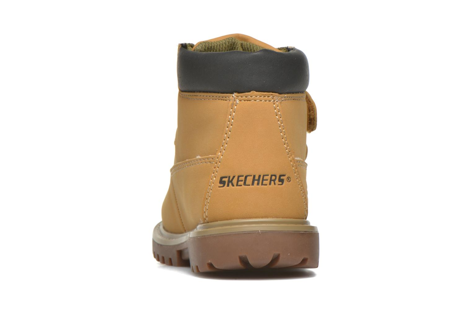 Ankle boots Skechers Mecca Brazenly Beige view from the right