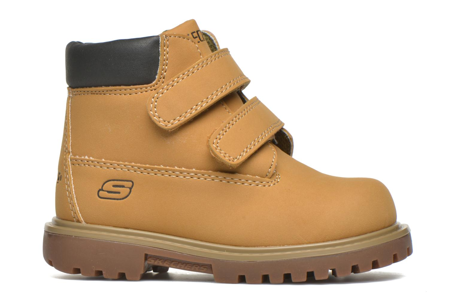 Ankle boots Skechers Mecca Brazenly Beige back view