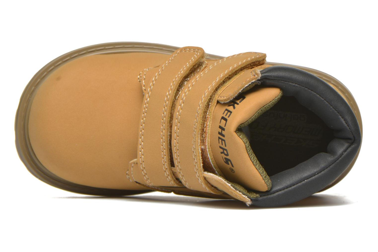 Ankle boots Skechers Mecca Brazenly Beige view from the left