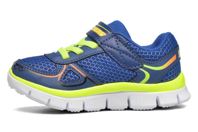 Sneaker Skechers Flex Advantage Mini Race blau ansicht von vorne