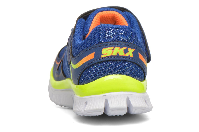 Baskets Skechers Flex Advantage Mini Race Bleu vue droite