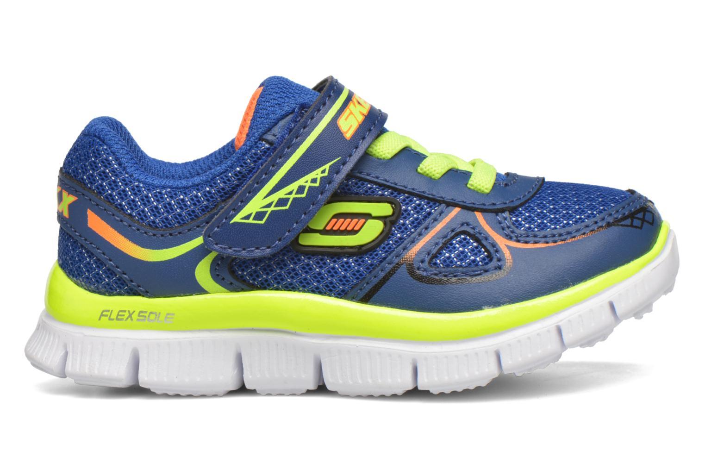 Sneaker Skechers Flex Advantage Mini Race blau ansicht von hinten