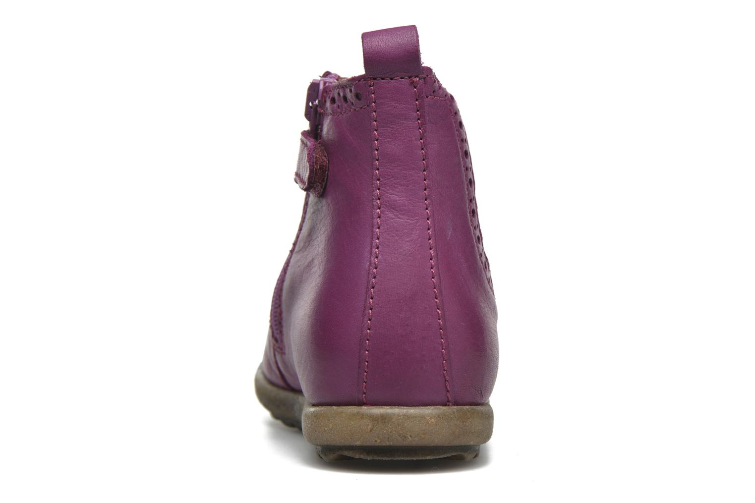 Ankle boots Naturino Naturino Ice Pink view from the right