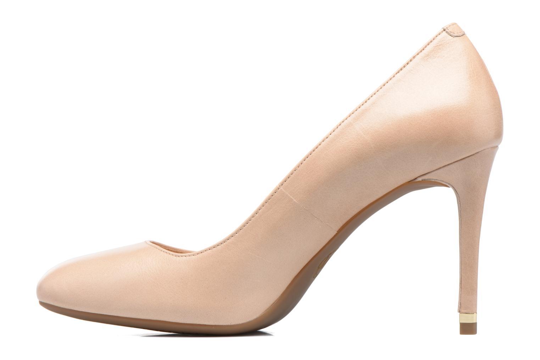 Zapatos de tacón Michael Michael Kors Ashby Flex Pump Beige vista de frente