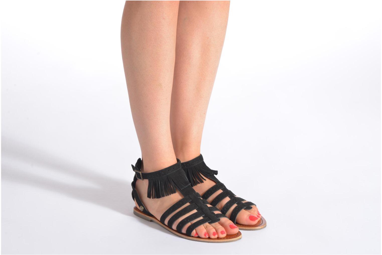 Sandales et nu-pieds Pepe jeans Jane fringes Marron vue bas / vue portée sac