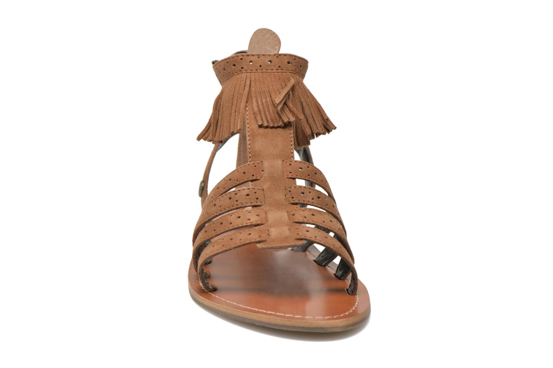 Sandales et nu-pieds Pepe jeans Jane fringes Marron vue portées chaussures
