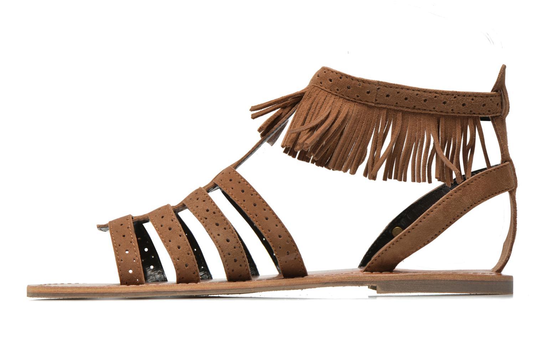 Sandales et nu-pieds Pepe jeans Jane fringes Marron vue face