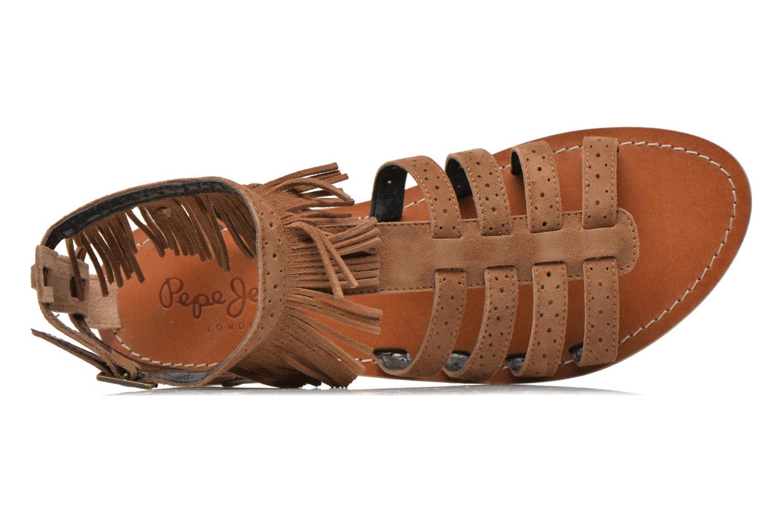 Sandales et nu-pieds Pepe jeans Jane fringes Marron vue gauche