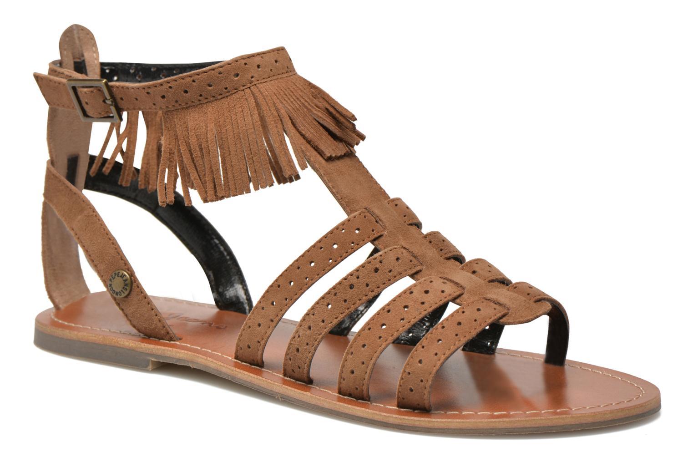 Sandales et nu-pieds Pepe jeans Jane fringes Marron vue détail/paire
