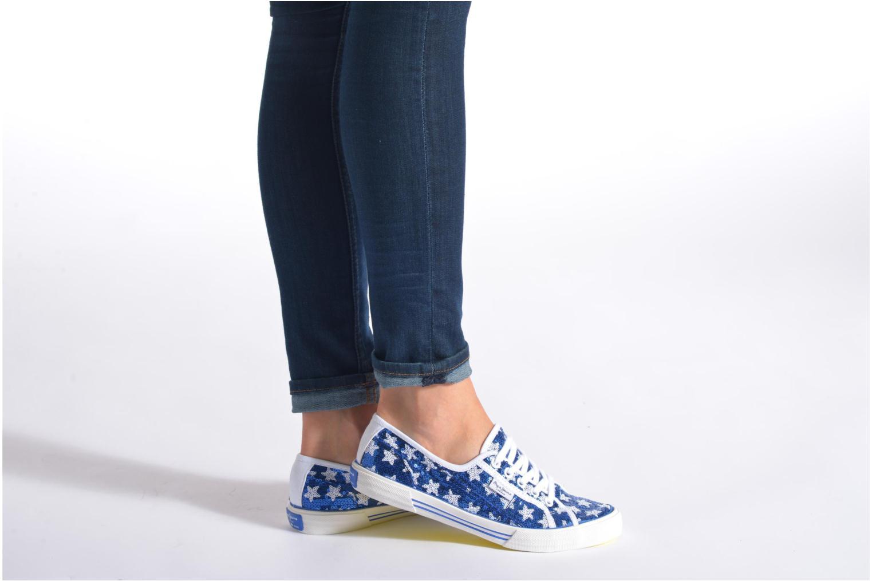 Baskets Pepe jeans Aberlady shiny stars Bleu vue bas / vue portée sac