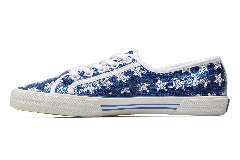Baskets Pepe jeans Aberlady shiny stars Bleu vue face