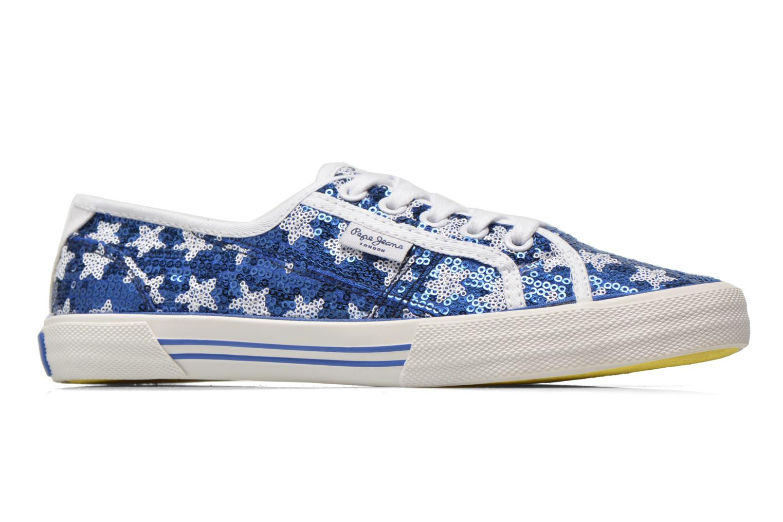 Baskets Pepe jeans Aberlady shiny stars Bleu vue derrière