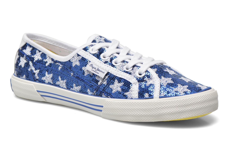 Baskets Pepe jeans Aberlady shiny stars Bleu vue détail/paire