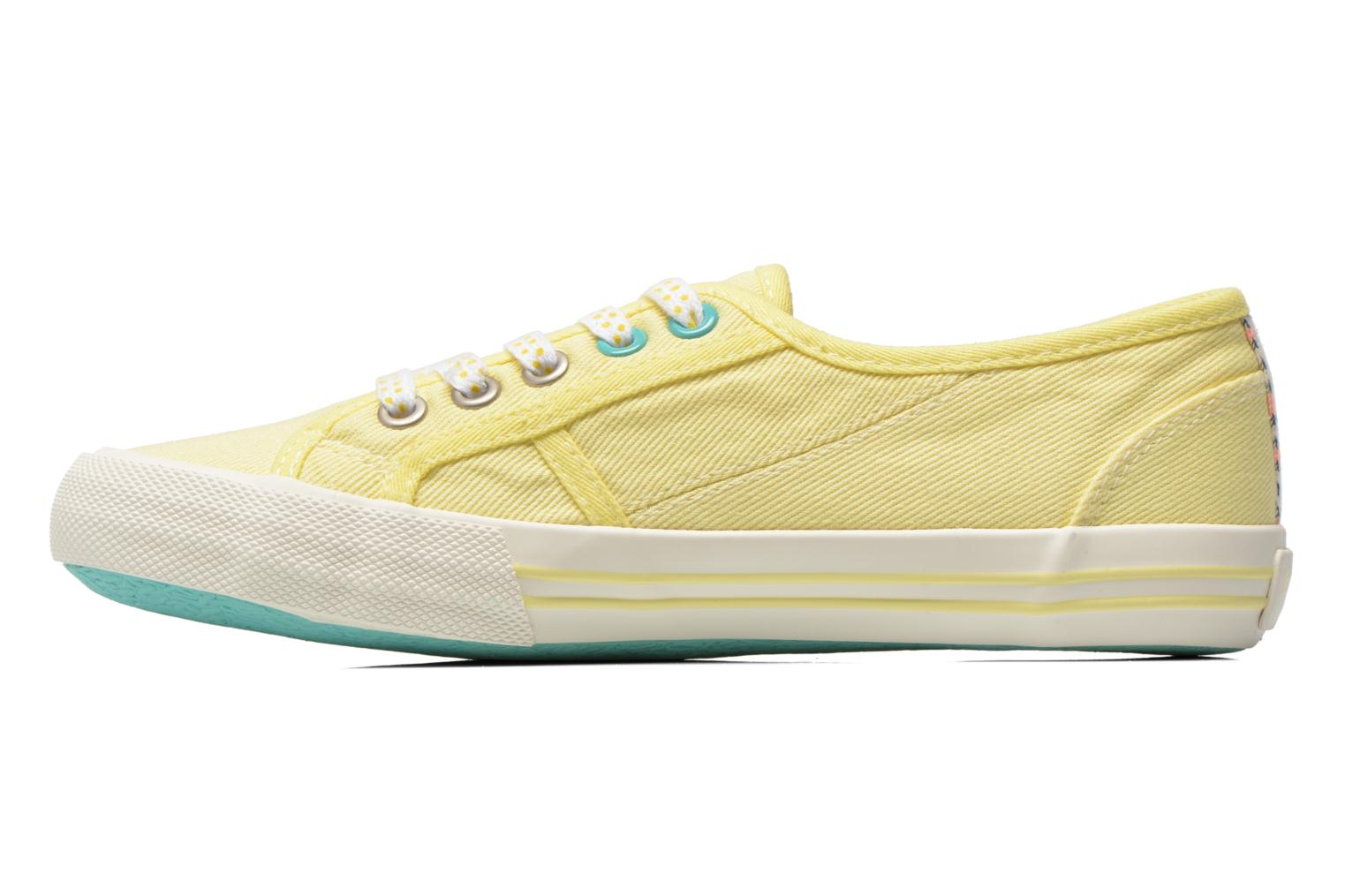 Trainers Pepe jeans Baker plain Yellow front view