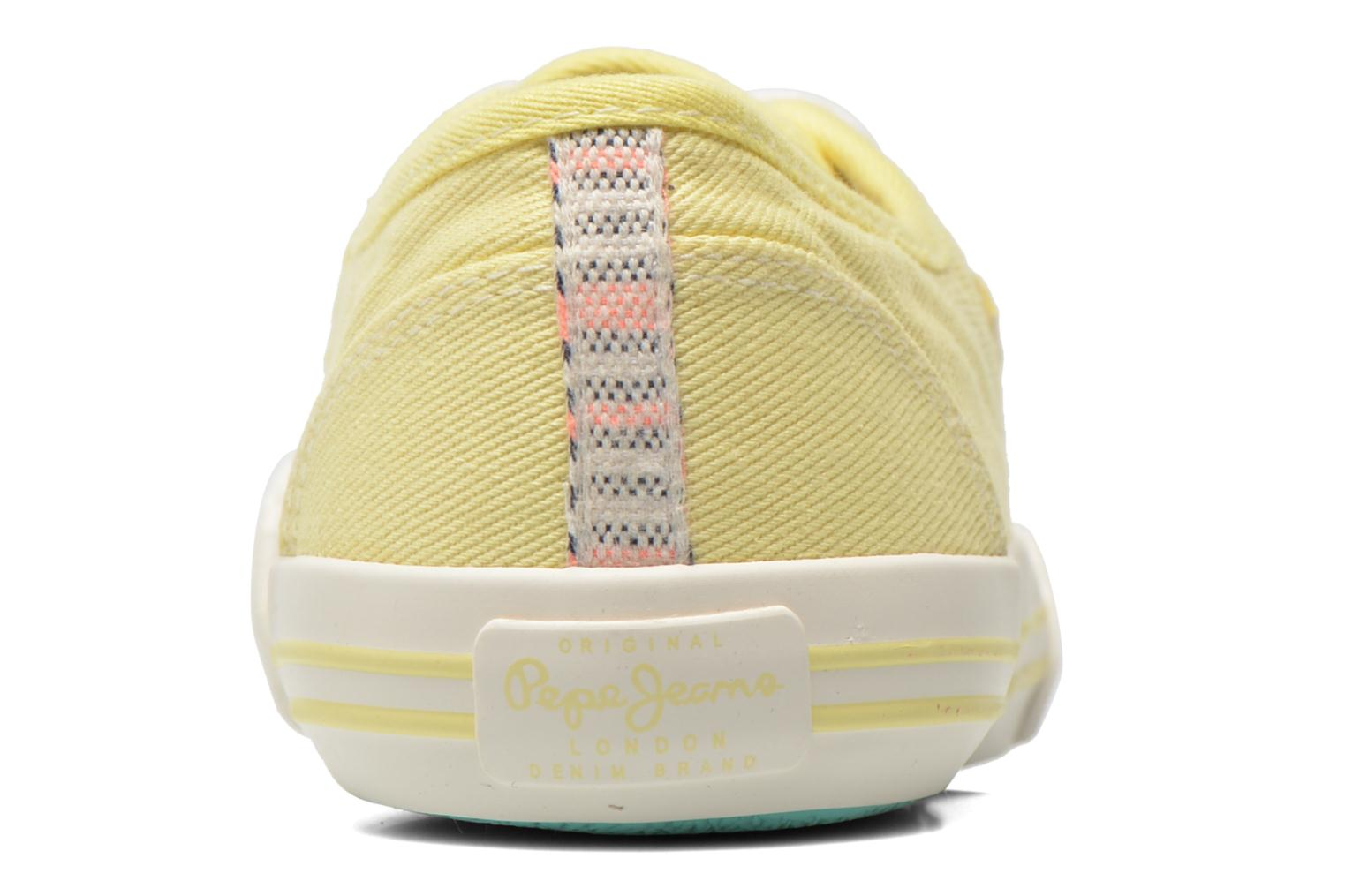 Trainers Pepe jeans Baker plain Yellow view from the right