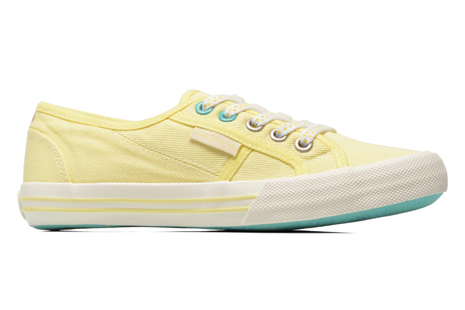 Trainers Pepe jeans Baker plain Yellow back view