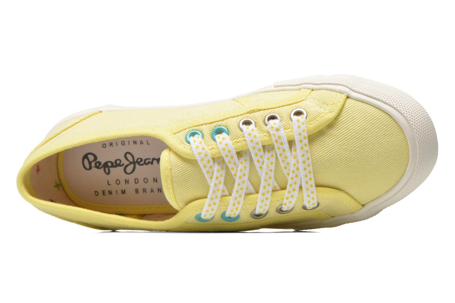 Trainers Pepe jeans Baker plain Yellow view from the left