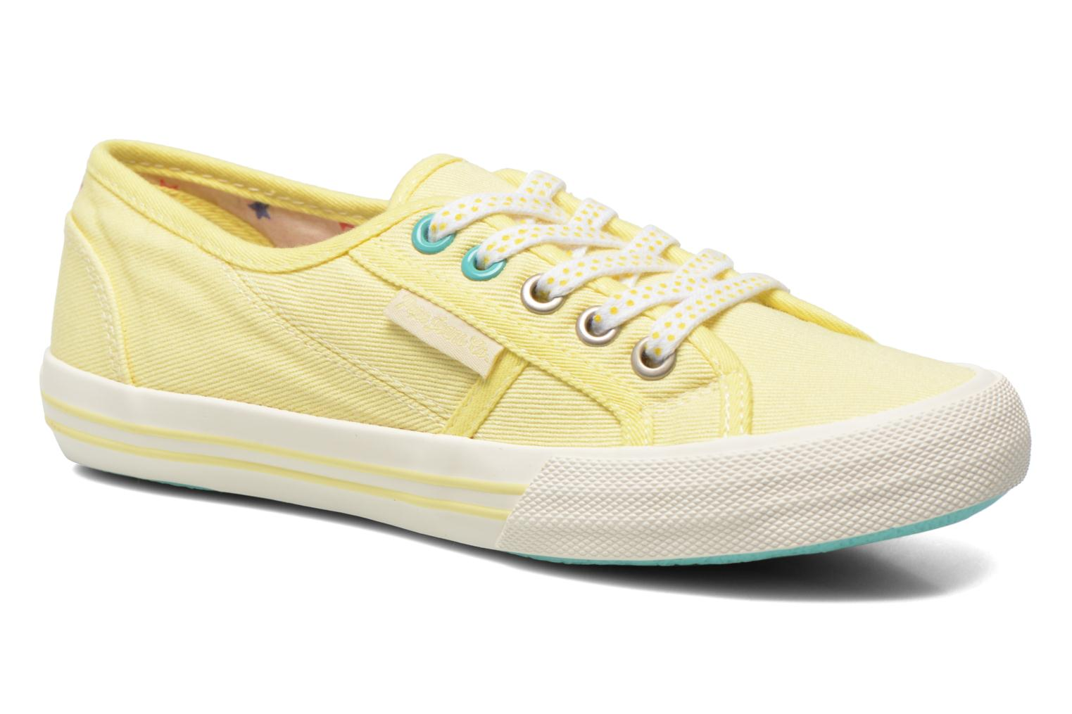 Trainers Pepe jeans Baker plain Yellow detailed view/ Pair view