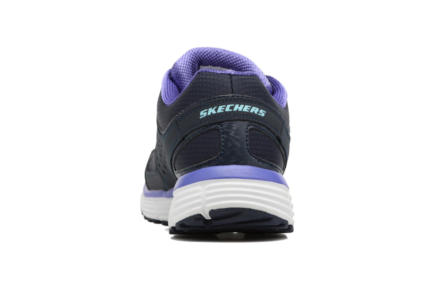 Sport shoes Skechers Agility - Ramp Up Purple view from the right