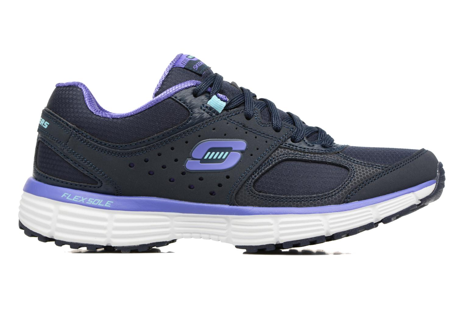 Sport shoes Skechers Agility - Ramp Up Purple back view