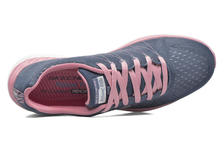 Chaussures de sport Skechers Valeris Bleu vue gauche