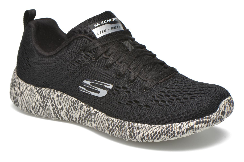 Sport shoes Skechers Burst Black detailed view/ Pair view