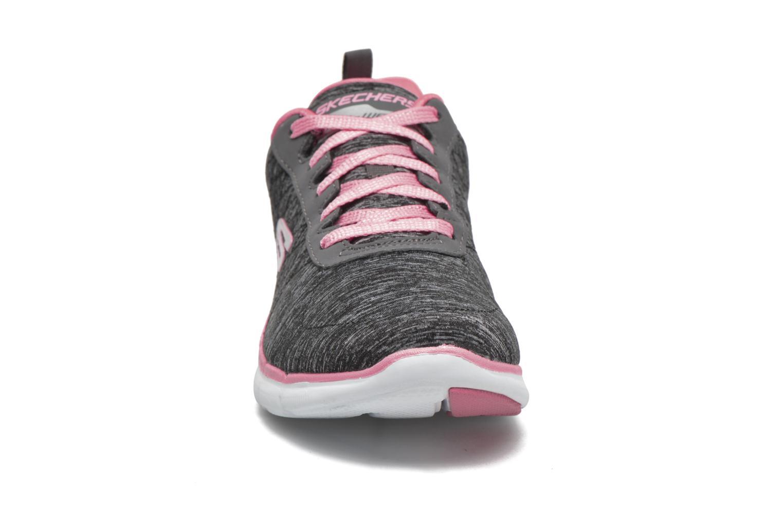 Baskets Skechers Flex Appeal 2.0 Noir vue portées chaussures