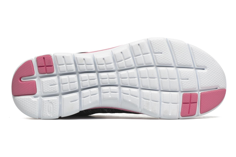 Baskets Skechers Flex Appeal 2.0 Noir vue haut