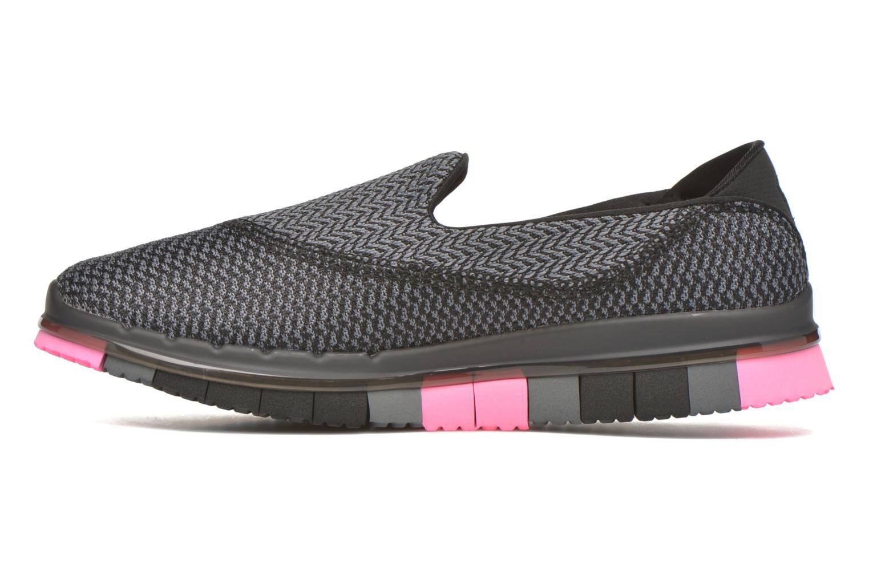 Zapatillas de deporte Skechers Go flex - Extend Negro vista de frente