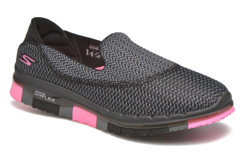 Sport shoes Skechers Go flex - Extend Black detailed view/ Pair view