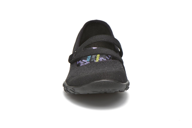 Ballerines Skechers Breathe-Easy - Lucky Noir vue portées chaussures