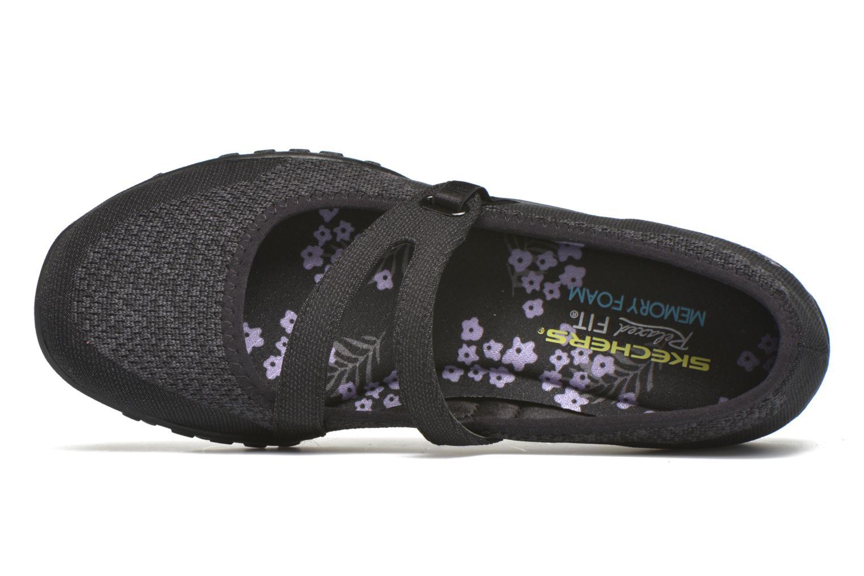 Bailarinas Skechers Breathe-Easy - Lucky Negro vista lateral izquierda