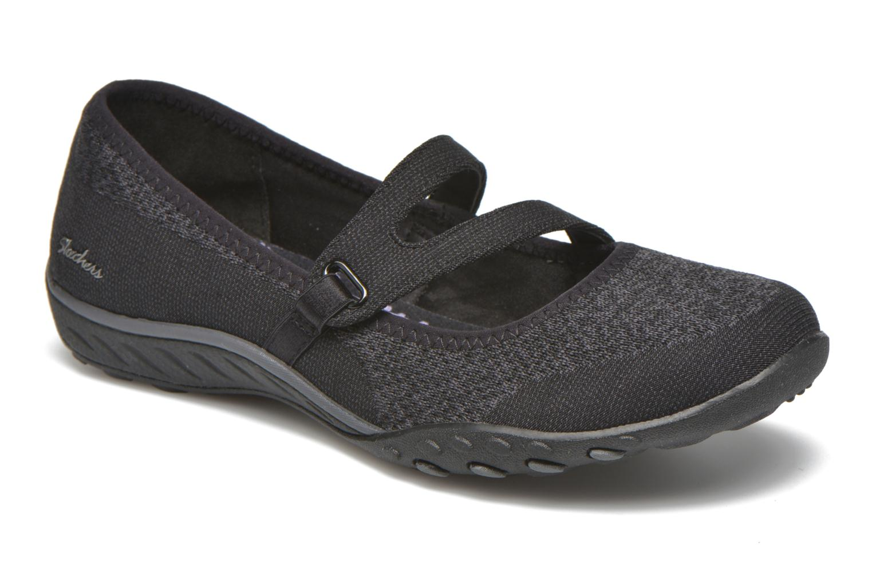 Ballerinaer Skechers Breathe-Easy - Lucky Sort detaljeret billede af skoene