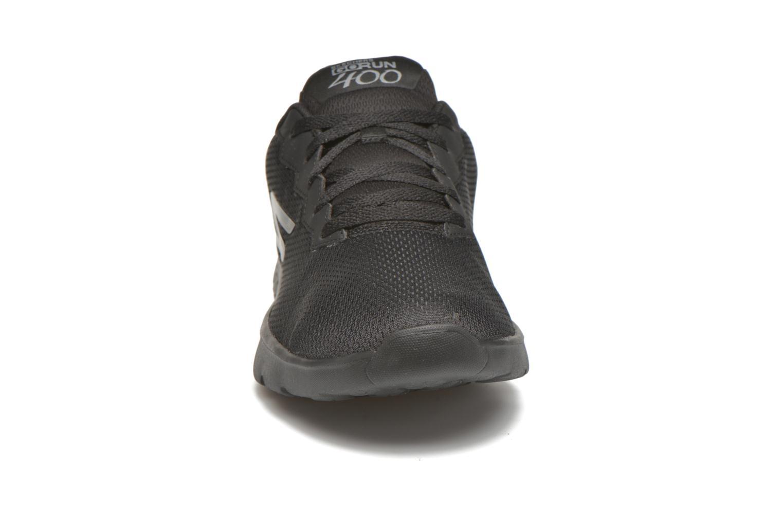 Sportschuhe Skechers Go run 400 schwarz schuhe getragen