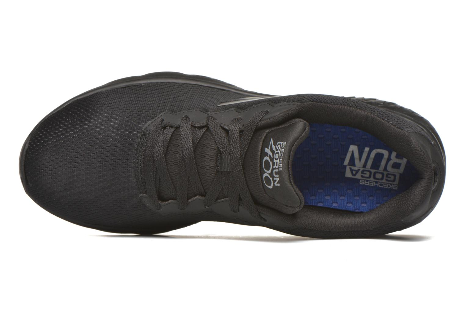 Sport shoes Skechers Go run 400 Black view from the left