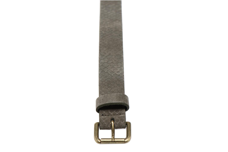 Cinturones Bensimon Ceinture croûte de cuir Gris vista del modelo