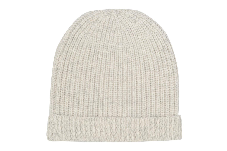 Bonnet tricoté laine cachemire Gris clair