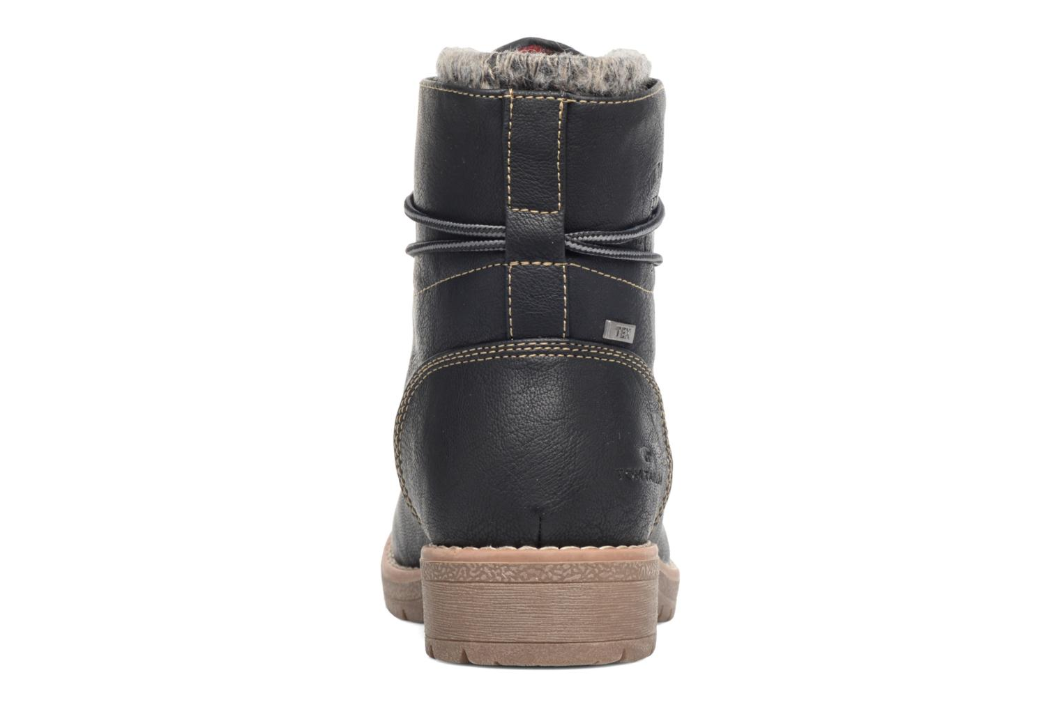 Lace-up shoes Tom Tailor Alix Black view from the right