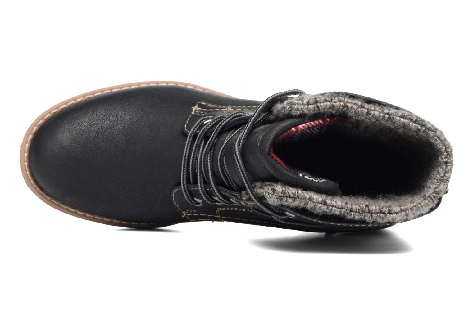 Lace-up shoes Tom Tailor Alix Black view from the left