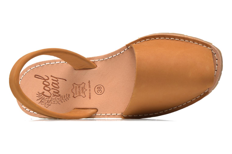 Sandales et nu-pieds Coolway Seilor Marron vue gauche