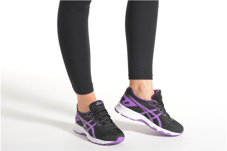 Chaussures de sport Asics Gel-Galaxy 9 GS Noir vue bas / vue portée sac