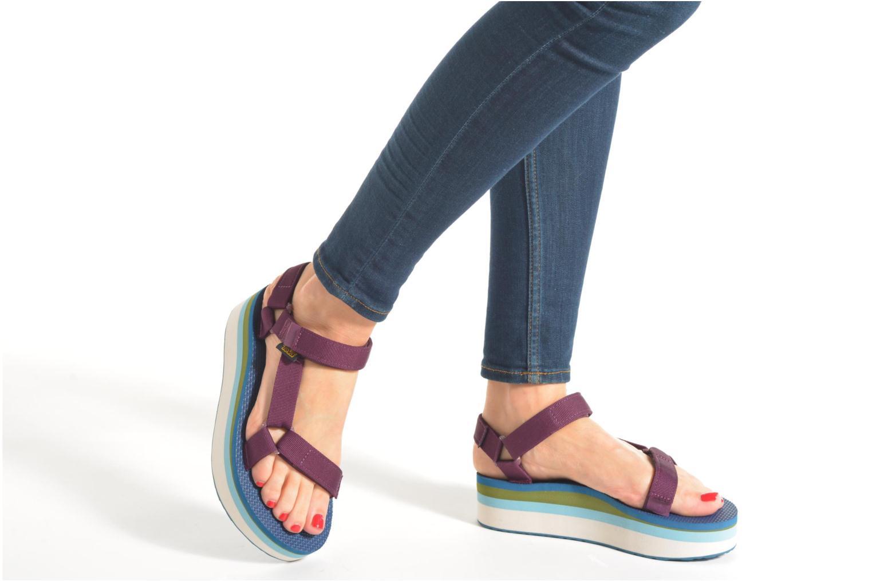 Sandali e scarpe aperte Teva Flatform Universal Retro Rosa immagine dal basso