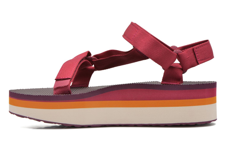 Sandales et nu-pieds Teva Flatform Universal Retro Rose vue face