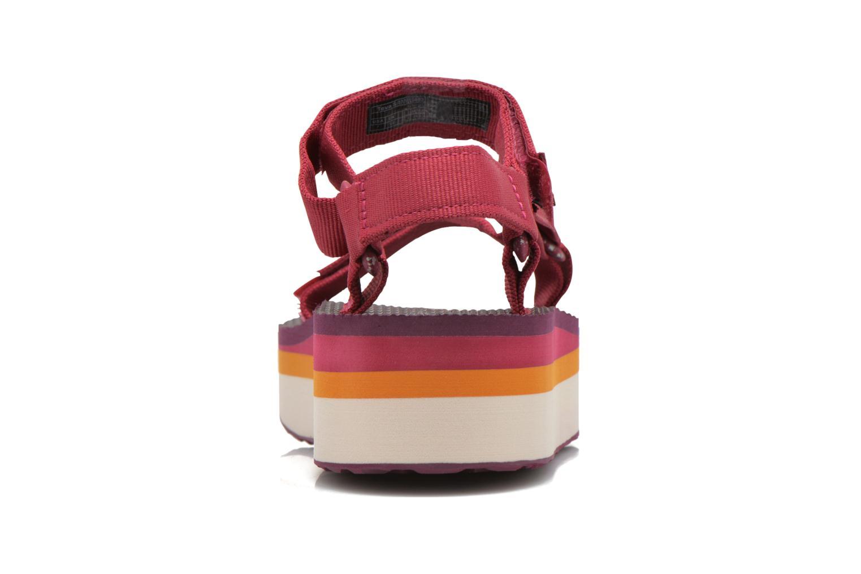 Sandali e scarpe aperte Teva Flatform Universal Retro Rosa immagine destra