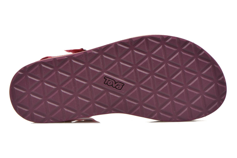 Sandali e scarpe aperte Teva Flatform Universal Retro Rosa immagine dall'alto