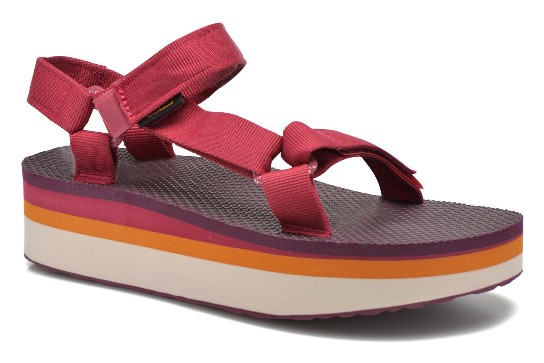 Sandales et nu-pieds Teva Flatform Universal Retro Rose vue détail/paire