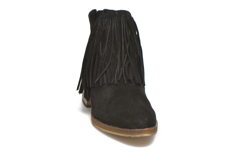 Bottines et boots Vero Moda Laure Leather Boot Noir vue portées chaussures