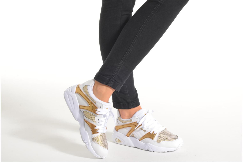 Sneaker Puma Wnbs Blaze weiß ansicht von unten / tasche getragen