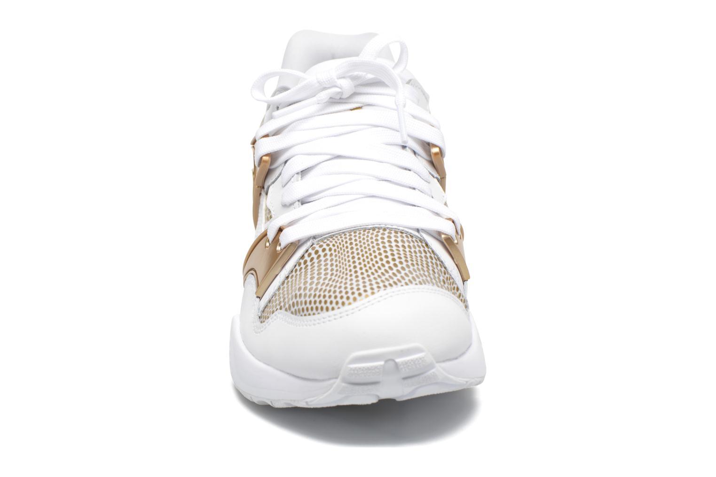 Sneaker Puma Wnbs Blaze weiß schuhe getragen