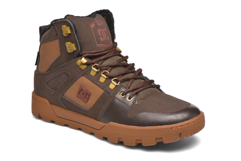 Baskets DC Shoes Spartan High WR Marron vue détail/paire